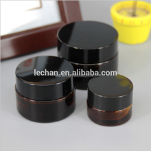 Cosmetic cream container 50g black glass jar