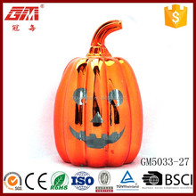 led halloween artificial orange pumpkin