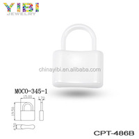 White Lock-shaped Ceramic Part For Fashion Jewelry