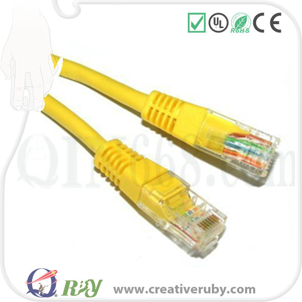 Top-quality CAT5e Cat6 24AWG RJ45 Patch cord 4pairs Pure Copper UTP Patch cable 3M