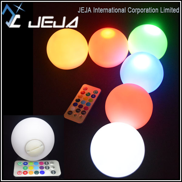 Plastic Material Led <strong>balls</strong> illuminate <strong>Ball</strong> Remote Operated RGB color