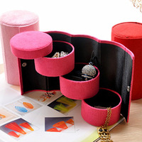 round 3 layers lint jewelry box,accessories organizer storage box
