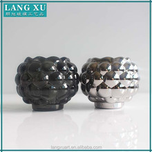 LXHY-Z073PS electroplating grey tealight beaded votive candle holders ball