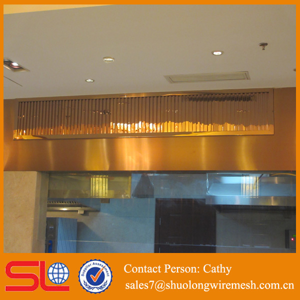 ceiling decorative metal screen mesh Copper woven wire mesh