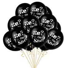 <strong>12</strong>/36Inch Black Baby Shower Party Decorations Supplies Gender Reveal Balloons