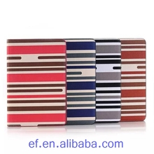 Phone accessory stripe pattern wallet flip Case for iPad Mini 4, for iPad mini 4 book flip case pouch