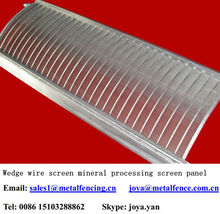 Frame reinforced wedge wire screen mineral processing screen panel