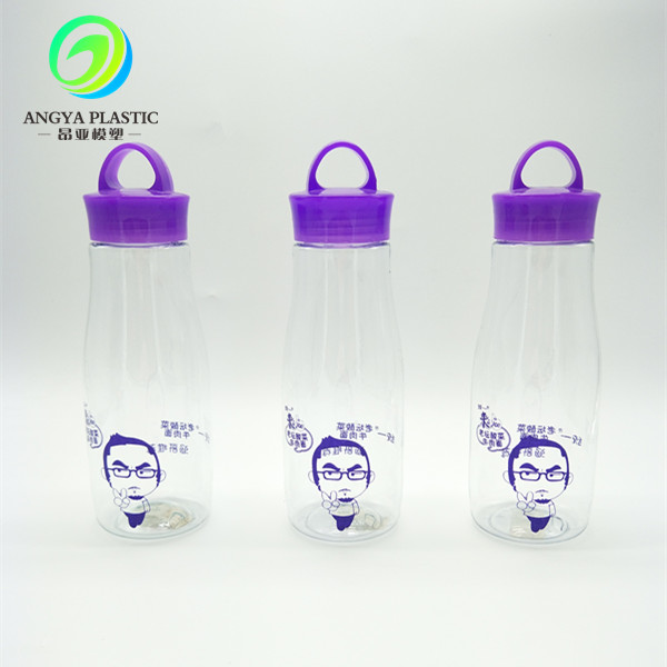 PC bottle blowing process traveling friend bottle sport plastic water bottle with screw lid BPA Free