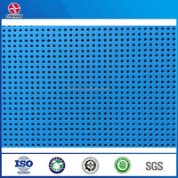 blue perforated aluminum tile