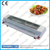 Grill and fully using the heat source for energy saving effect