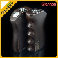 Qiangba box Gun handle shape vapor box mod, made out of wood, full mechanical device and Unique design with elegance apperance