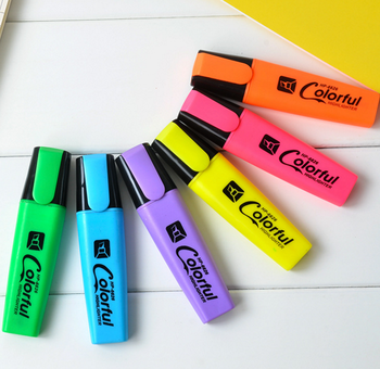 4-6-12 colors set chisel tip highlighter marker pen