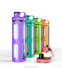 New design 750ml portable drinking water bottle with handle