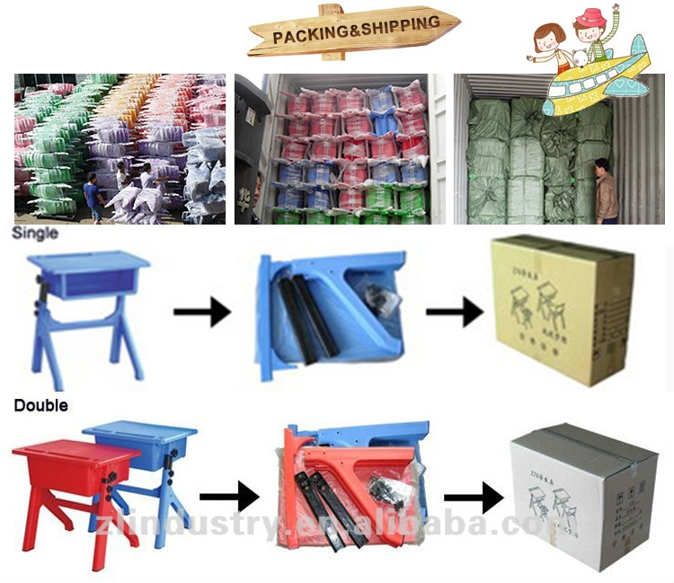 Factory price stable plastic durable cheap chair and table for kids
