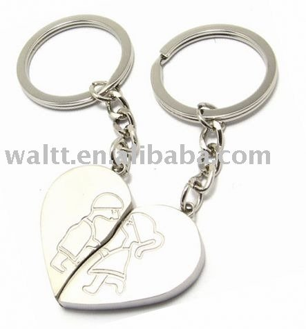 Sweet Heart Shape Metal Keychains