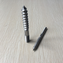 double threaded screw stainless steel double ended screws