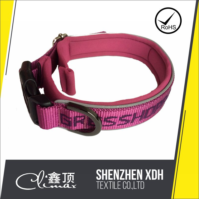 XDS212 Nylon Red Seatbelt Buckle Dog Collar