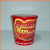 hot plastic chicken wing bucket with lid