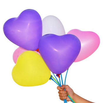 Factory wholesale colorful wedding latex heart shape balloon for decoration