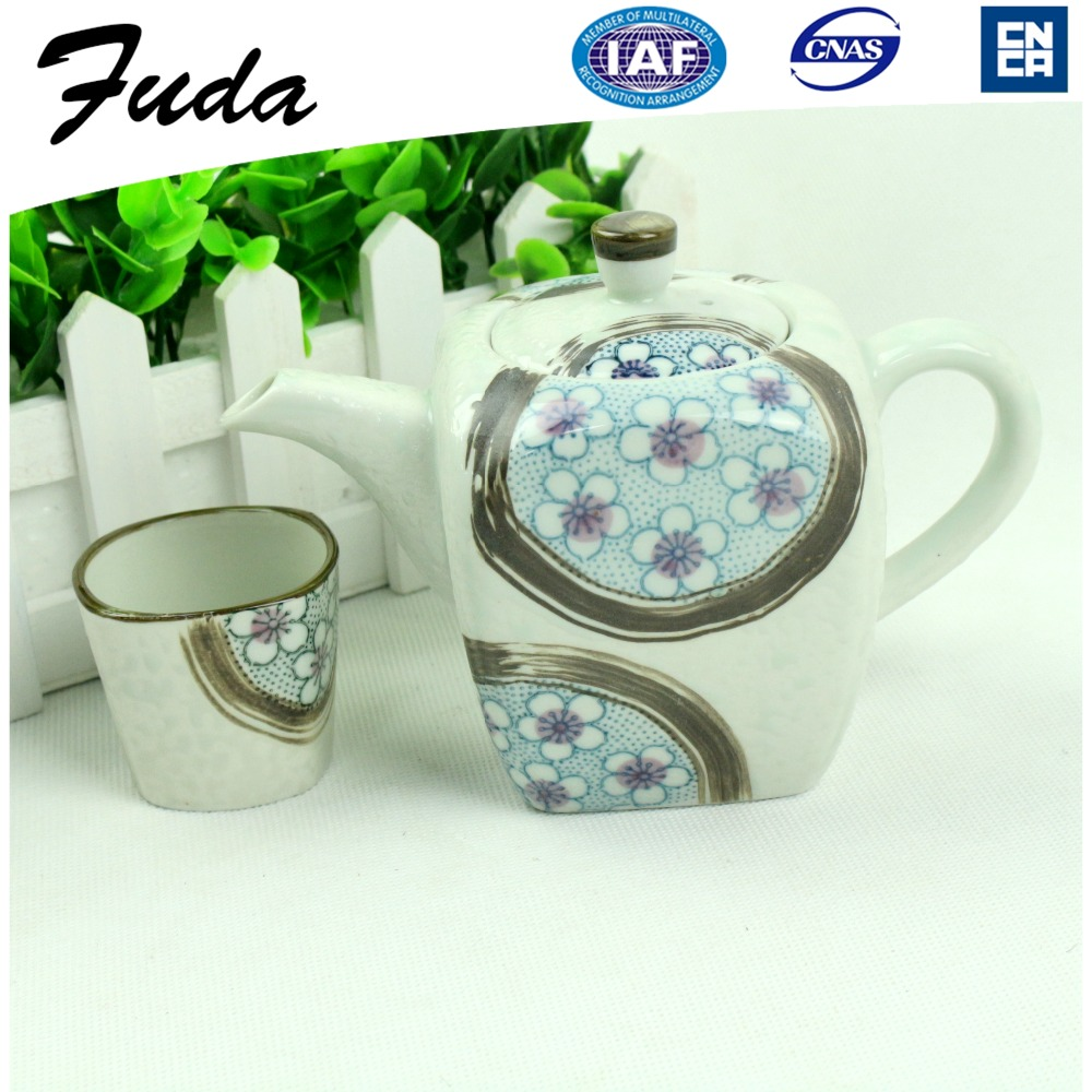 Eco-Friendly Feature Drinkware Type Hand Painted High Temperature Japanese Tea Set