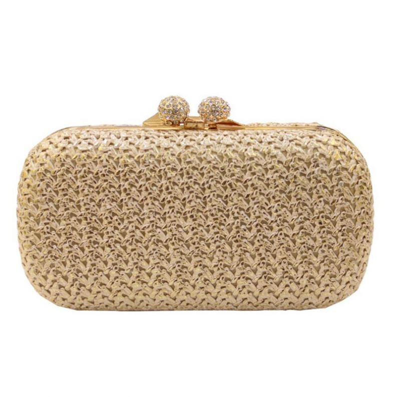 New Design 2017 designer wheat straw clutch bag