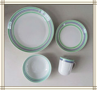 ceramic porcelain 20pcs coupe dinner set with colored design