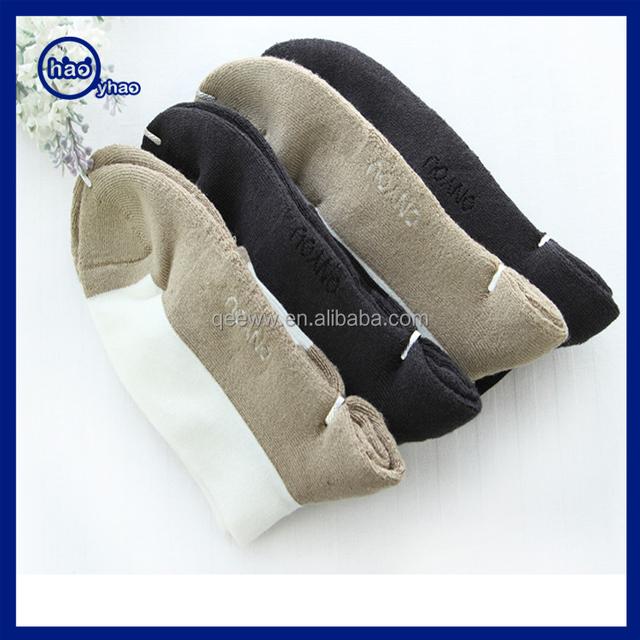 Wholesale custom 100% bamboo fiber terry cushion thick work men sock socks women