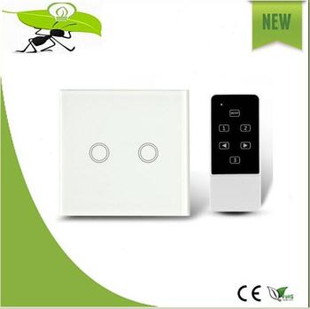 Wireless Remote Control Wifi touch light switch Smart Home electrical glass touch panel dimmer light switch