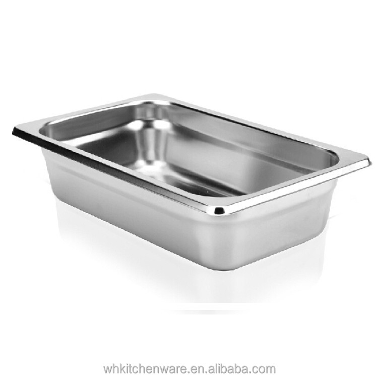 1/4*65mm NSF certification stainless steel Gn container ice cream and food Pan Food Pans coffee shop hotel equipment