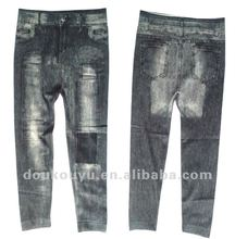 2012 hot selling ladys seamless denim leggings