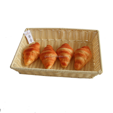 wholesale burger restaurant equipment with pretty woven rattan burger basket and box for restaurant and hotel