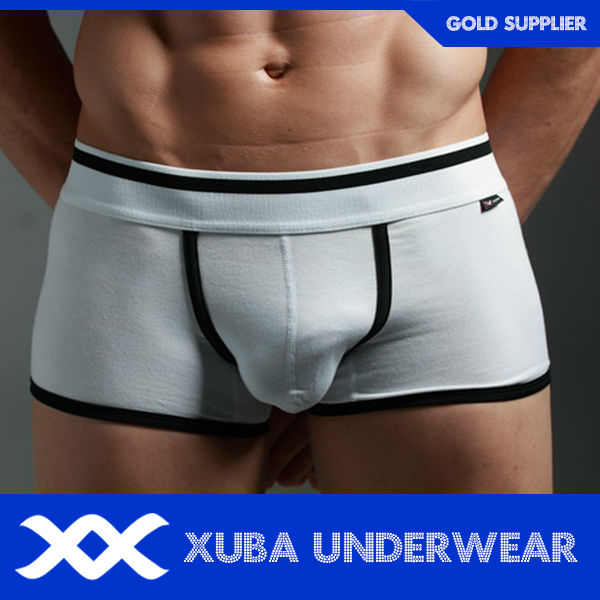 men cotton spandex polyurethane enhancing underwear men(P)