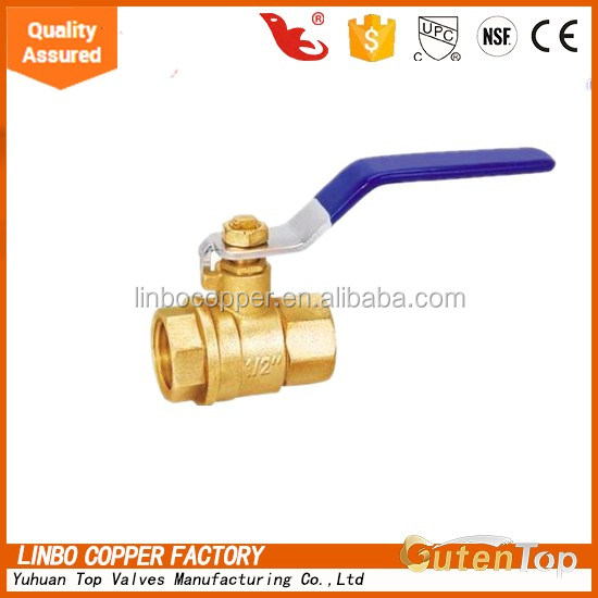 LB-Gutentop cheap pn-25 brass ball valve for water meter made in China