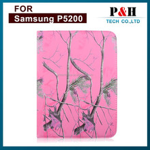 Wholesale pattern rotate tablet PC leather case for Samsung p5200