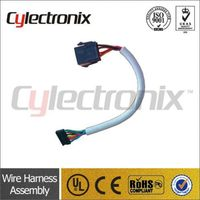 Solar car audio system wiring harness and car audio system cable assembly
