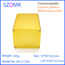 high quality golden aluminum instrument enclosure extruded junction box