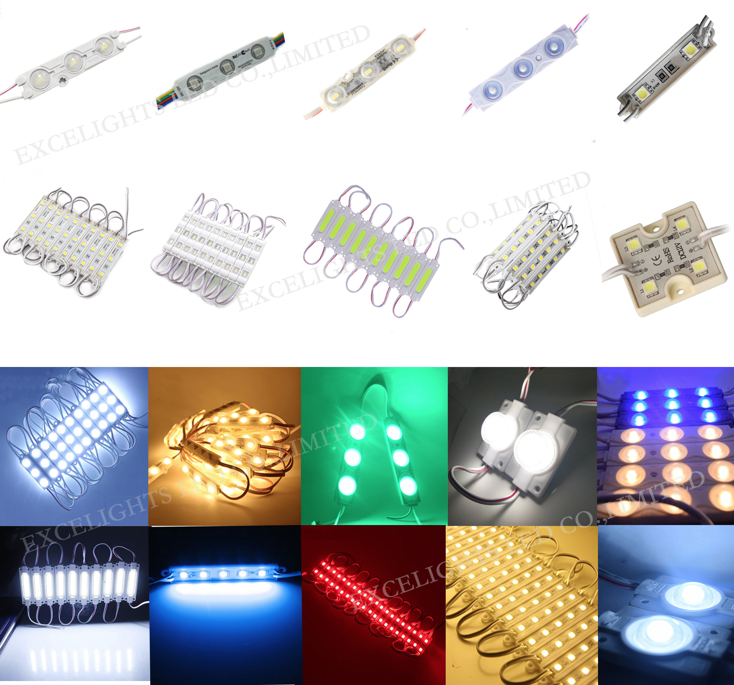 LED China Supplier 3 led module Epoxy 1.2W Waterproof 12V DC CE RoHS Approval SMD Korea Samsung LED Module 5730