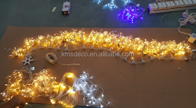 IP44 clear wire twinkling cool white flexible lights 100led with controller holiday outdoor decoration