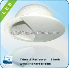 ETL Listed 6 inch recessed downlight line voltage wall wash trim with baffle-B6016