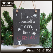 China Custom Slate Stone Party Giveaways For Christmas