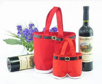2016 2 bottle red velvet christmas wine bottle bag