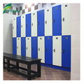 hpl waterproof 2 doors blue and white color locker