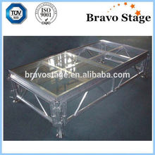Super Aluminum Stage Plywood Stage Panel Shiny Glass Wedding Stage