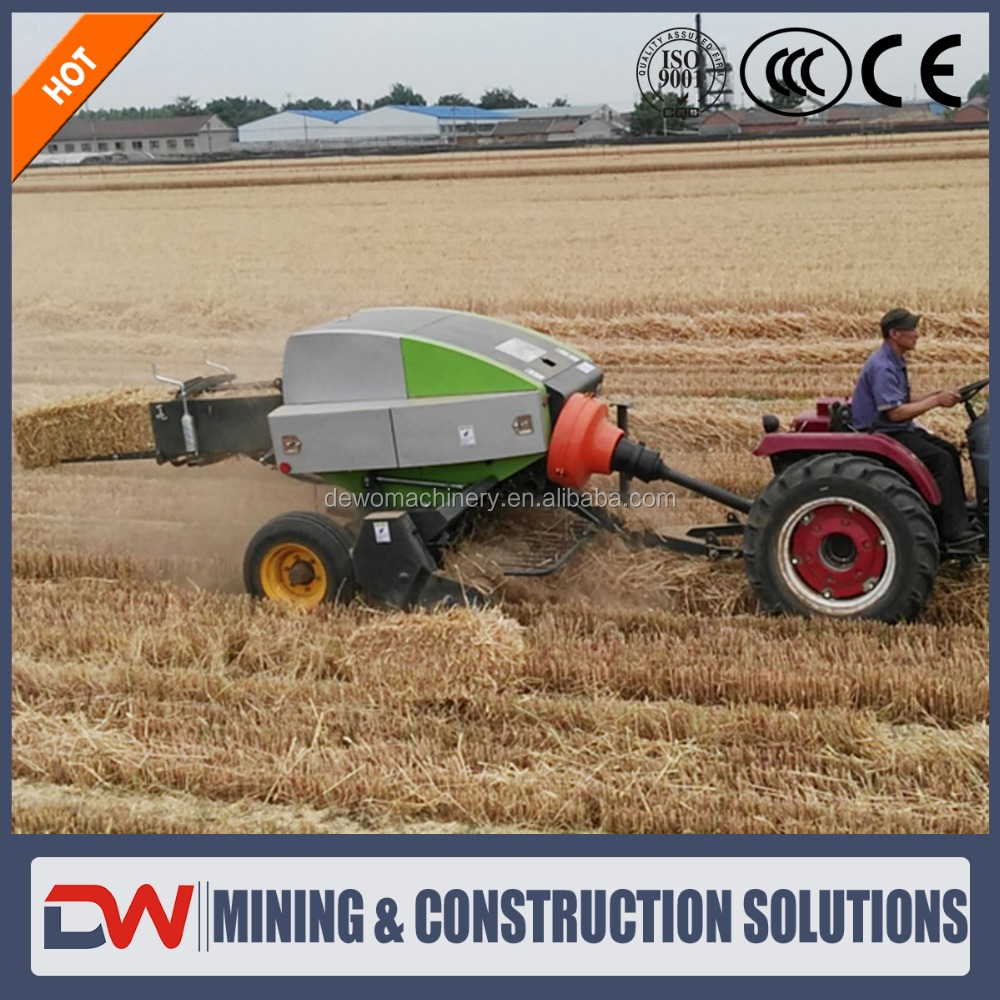 Newest cost production self-powered mini press pine straw hay square baler machine for sale with low price