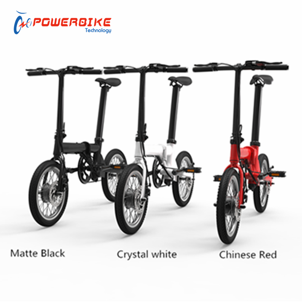 Factory direct 250w 16 inch mini portable electric bike folding with CE certify
