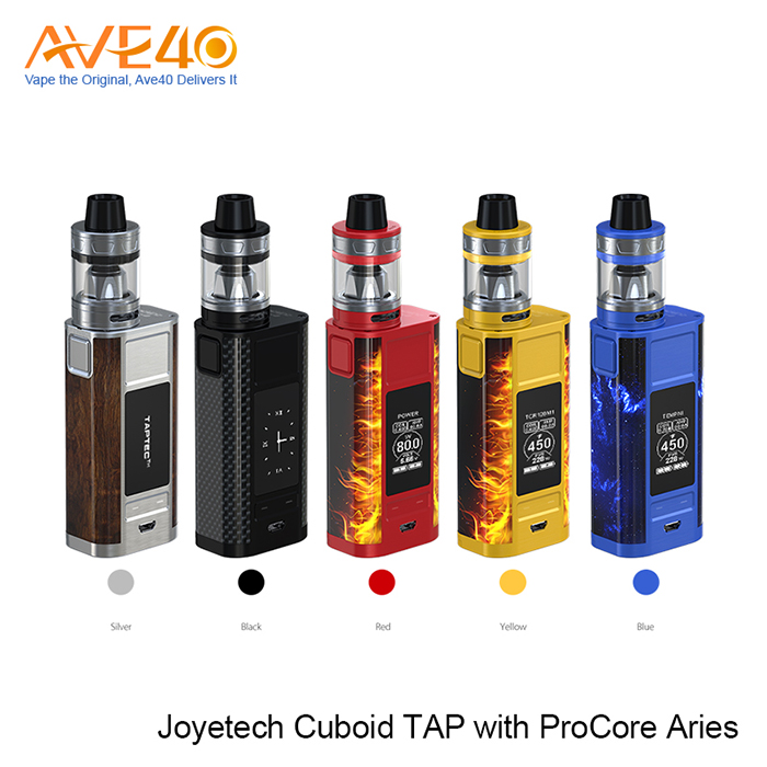 China wholesale Joyetech CUBOID TAP 228W mod, CUBOID TAP with ProCore Aries Kit