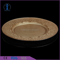 Wholesale Cheap Clear Wedding Decoration charger plate
