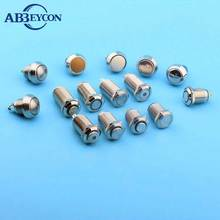 IP65 waterproof 12mm zinc alloy aluminum flat round metal pushbutton switches plunger switch