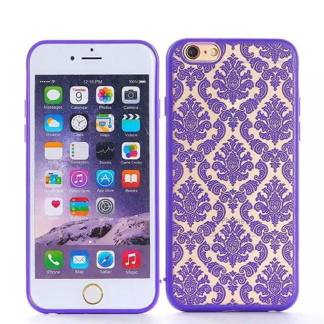 Embossment Back Cover Case for iPhone 6plus 5.5 China Propitious Style for iPhone 6s plus TB-0101