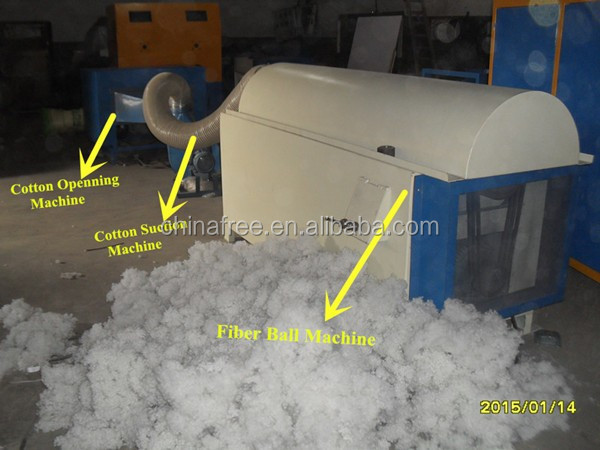 Professional polyester fiber ball machine/diy teddy bear stuffing machine